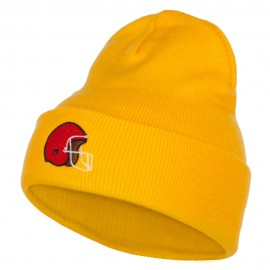 Football Helmet Embroidered Long Beanie
