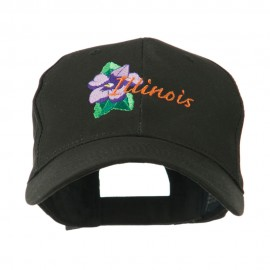 USA State Flower Illinois Violet Embroidered Cap
