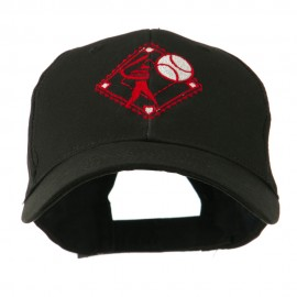 Baseball with Big Ball Logo Embroidered Cap