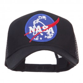 Lunar Landing NASA Patched Mesh Back Cap - Black