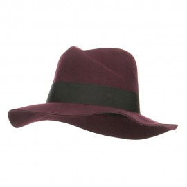 Wool Felt Band Panama Hat