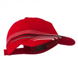 Low Profile Deluxe Brushed Cotton Twill Cap - Red