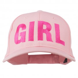 Girl Hip Hop Embroidered Cotton Twill Cap