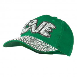 Love Rhinestone Jeweled Baseball Cap