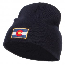 Colorado Flag Embroidered Short Beanie