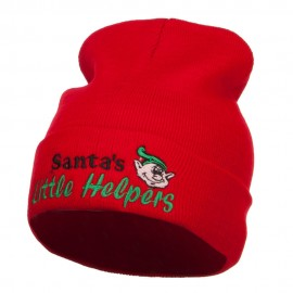 Santa's Little Helpers Embroidered Long Beanie