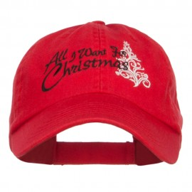 All I Want For Christmas Embroidered Low Cap