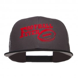 Football Fever Embroidered Mesh Snapback Cap