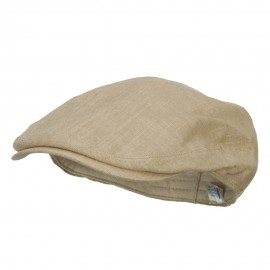 Men's Linen Summer Ivy Cap - Khaki