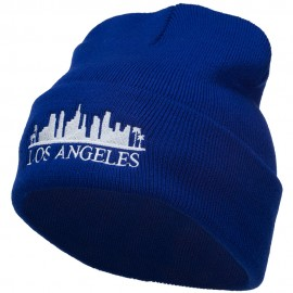 Los Angeles Skyline Embroidered Long Beanie