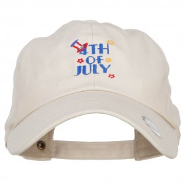 Uncle Sam 4th of July Embroidered Unstructured Cap