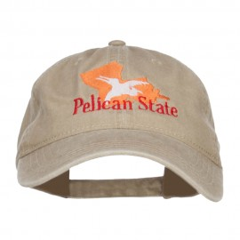 Louisiana Pelican State Embroidered Washed Cap