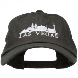 Las Vegas Skyline Embroidered Washed Cap