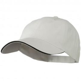 Low Profile Light Weight Brushed Twill Cap - White Black