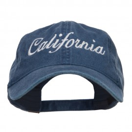 California Embroidered Washed Cap - Navy