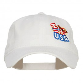 I Love USA Eagle Patch Washed Cap