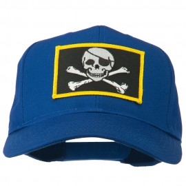 Jolly Roger Skull Military Patched Cap