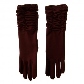 Mid Arm Length Shiny Glove - Wine