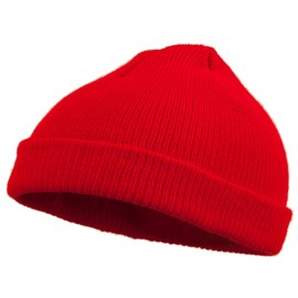 Infant Knit Cuff Beanie - Red