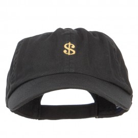 Mini Dollar Sign Embroidered Low Cap