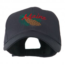 USA State Flower Maine Pine Cone and Tassel Embroidered Cap