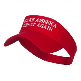 Make America Great Again Embroidered Visor - Red