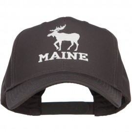 Maine State Moose Embroidered Twill Cap