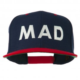 Mad Embroidered Two Tone Snapback Cap