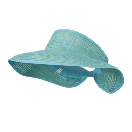 UPF 40+ Metallic Blend Roll Up Visor