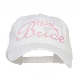 Team Bride Embroidered Dyed Cotton Cap