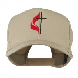 Methodist Church's Cross Embroidered Cap