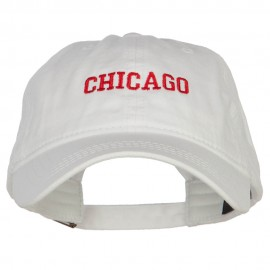 Chicago Embroidered Washed Buckled Cap