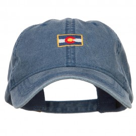 Mini Colorado Flag Embroidered Washed Cap