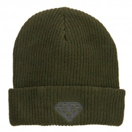 Diamond Embroidered Eco Cotton Cuff Beanie