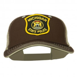Eastern Michigan State Police Patched Big Washed Mesh Cap