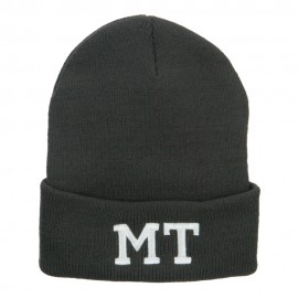 MT Montana State Embroidered Long Beanie