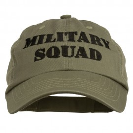 Military Squad Embroidered Low Profile Washed Cap