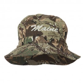 Maine Embroidered Bucket Hat