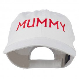 Mummy Embroidered Pet Spun Washed Cap