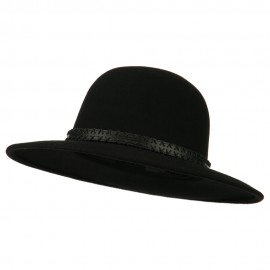 Men's Wool Felt Large Brim Fedora