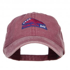 Memorial Day Flag Patched Washed Cap