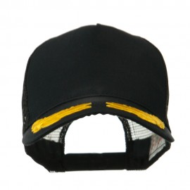 5 Panel Mesh Back Gold Oak Leaves Patch Cap