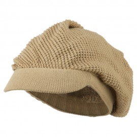 Mesh Deep Crown Visored Beanie