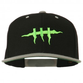 Halloween Monster Stitches Embroidered Snapback Cap