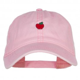 Mini Apple Embroidered Washed Cap