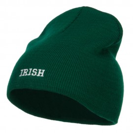 Mini Irish Embroidered Short Beanie