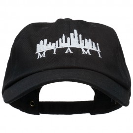 Miami Skyline Embroidered Washed Cap