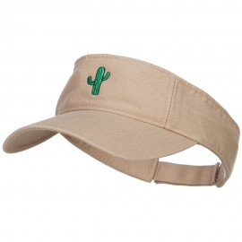 Mini Cactus Embroidered Cotton Washed Visor