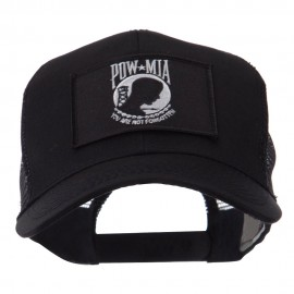 Pow Mia Embroidered Military Patched Mesh Cap - Pow Mia 3