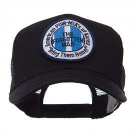 Pow Mia Embroidered Military Patched Mesh Cap - Korea